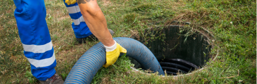 septic system being maintained